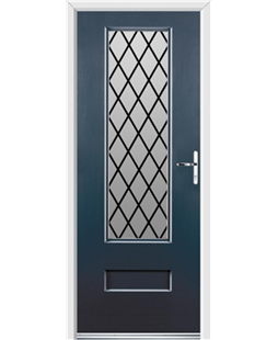 Ultimate Vogue Rockdoor in Anthracite Grey with Diamond Lead