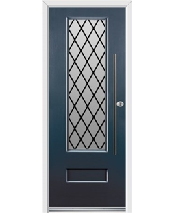Ultimate Vogue Rockdoor in Anthracite Grey with Diamond Lead and Bar Handle