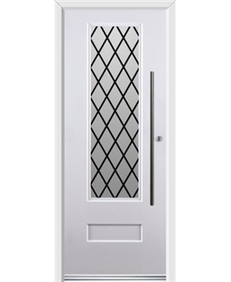 Ultimate Vogue Rockdoor in Blue White with Diamond Lead and Bar Handle