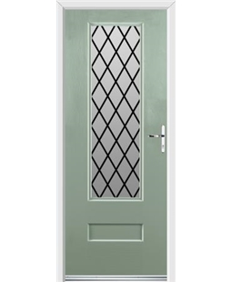 Ultimate Vogue Rockdoor in Chartwell Green with Diamond Lead