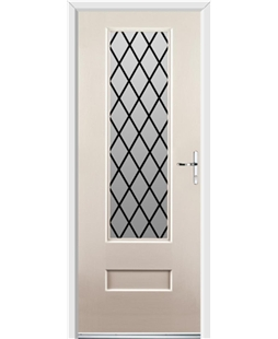 Ultimate Vogue Rockdoor in Cream with Diamond Lead