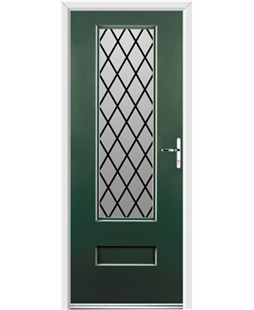 Ultimate Vogue Rockdoor in Emerald Green with Diamond Lead