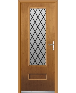 Ultimate Vogue Rockdoor in Irish Oak with Diamond Lead
