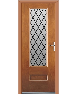 Ultimate Vogue Rockdoor in Light Oak with Diamond Lead