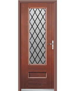Ultimate Vogue Rockdoor in Mahogany with Diamond Lead