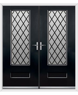 Vogue French Rockdoor in Onyx Black with Diamond Lead