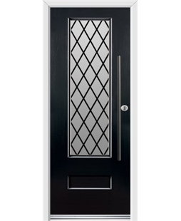 Ultimate Vogue Rockdoor in Onyx Black with Diamond Lead and Bar Handle