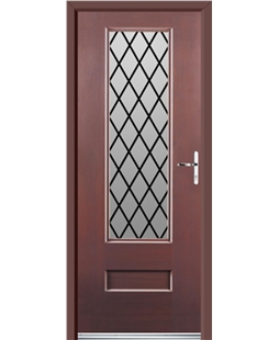 Ultimate Vogue Rockdoor in Rosewood with Diamond Lead