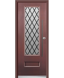 Ultimate Vogue Rockdoor in Rosewood with Diamond Lead and Bar Handle