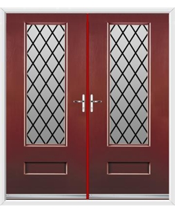 Vogue French Rockdoor in Ruby Red with Diamond Lead