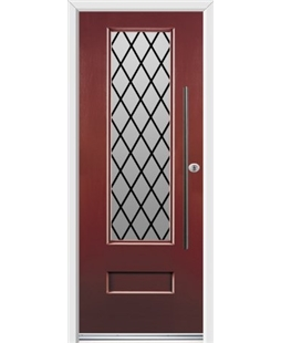Ultimate Vogue Rockdoor in Ruby Red with Diamond Lead and Bar Handle