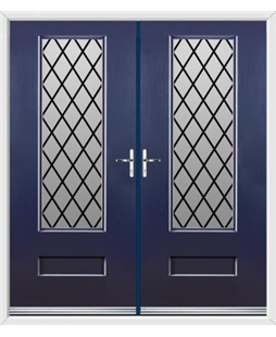 Vogue French Rockdoor in Sapphire Blue with Diamond Lead
