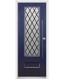 Ultimate Vogue Rockdoor in Sapphire Blue with Diamond Lead and Bar Handle