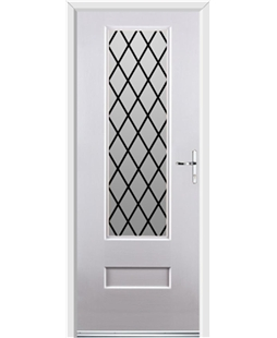 Ultimate Vogue Rockdoor in White with Diamond Lead