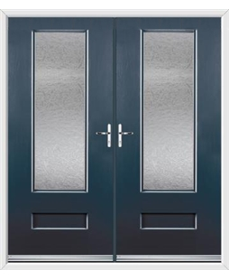 Vogue French Rockdoor in Anthracite Grey with Gluechip Glazing