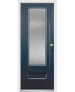 Ultimate Vogue Rockdoor in Anthracite Grey with Gluechip Glazing and Bar Handle