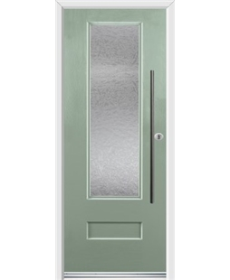 Ultimate Vogue Rockdoor in Chartwell Green with Gluechip Glazing and Bar Handle