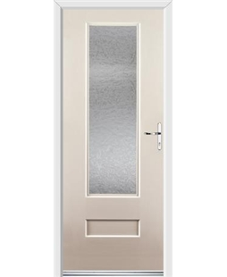 Ultimate Vogue Rockdoor in Cream with Gluechip Glazing