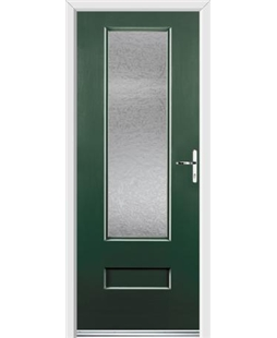 Ultimate Vogue Rockdoor in Emerald Green with Gluechip Glazing