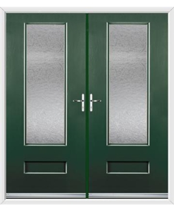 Vogue French Rockdoor in Emerald Green with Gluechip Glazing