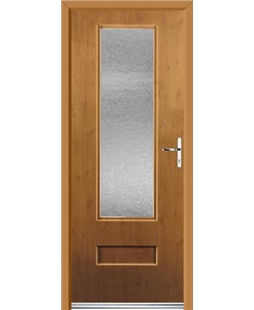 Ultimate Vogue Rockdoor in Irish Oak with Gluechip Glazing