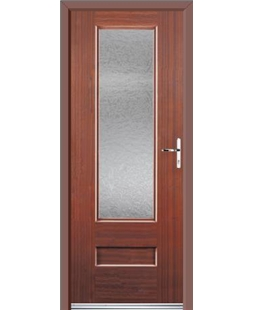 Ultimate Vogue Rockdoor in Mahogany with Gluechip Glazing