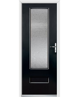 Ultimate Vogue Rockdoor in Onyx with Gluechip Glazing