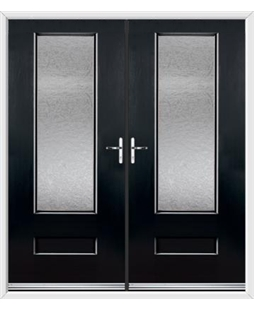 Vogue French Rockdoor in Onyx Black with Gluechip Glazing