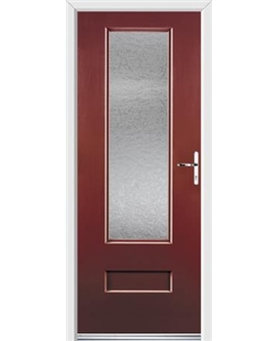Ultimate Vogue Rockdoor in Ruby Red with Gluechip Glazing