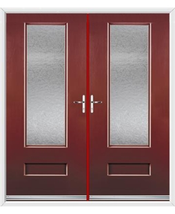 Vogue French Rockdoor in Ruby Red with Gluechip Glazing