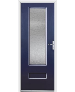 Ultimate Vogue Rockdoor in Sapphire Blue with Gluechip Glazing
