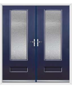 Vogue French Rockdoor in Sapphire Blue with Gluechip Glazing