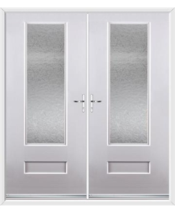 Vogue French Rockdoor in White with Gluechip Glazing