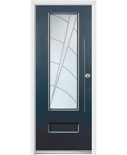 Ultimate Vogue Rockdoor in Anthracite Grey with Ocean Glazing and Bar Handle