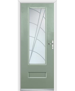 Ultimate Vogue Rockdoor in Chartwell Green with Ocean Glazing