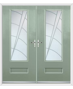 Vogue French Rockdoor in Chartwell Green with Ocean Glazing