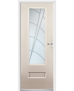 Ultimate Vogue Rockdoor in Cream with Ocean Glazing