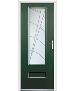 Ultimate Vogue Rockdoor in Emerald Green with Ocean Glazing