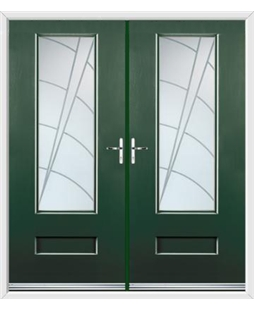 Vogue French Rockdoor in Emerald Green with Ocean Glazing