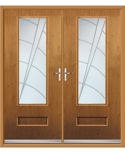 Vogue French Rockdoor in Irish Oak with Ocean Glazing