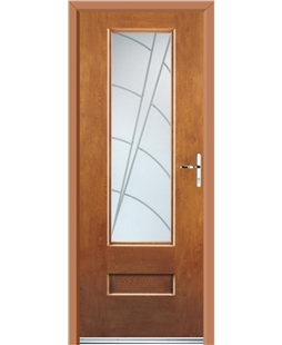 Ultimate Vogue Rockdoor in Light Oak with Ocean Glazing