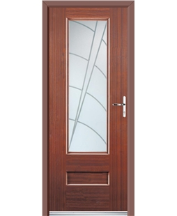 Ultimate Vogue Rockdoor in Mahogany with Ocean Glazing