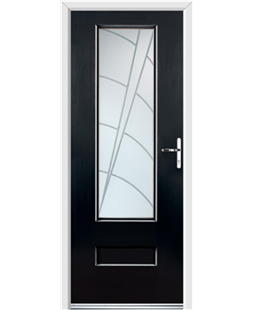 Ultimate Vogue Rockdoor in Onyx with Ocean Glazing