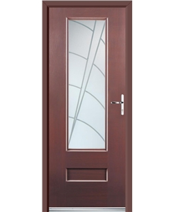 Ultimate Vogue Rockdoor in Rosewood with Ocean Glazing