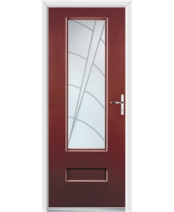 Ultimate Vogue Rockdoor in Ruby Red with Ocean Glazing