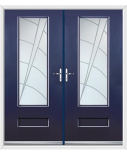 Vogue French Rockdoor in Sapphire Blue with Ocean Glazing