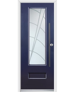 Ultimate Vogue Rockdoor in Sapphire Blue with Ocean Glazing and Bar Handle