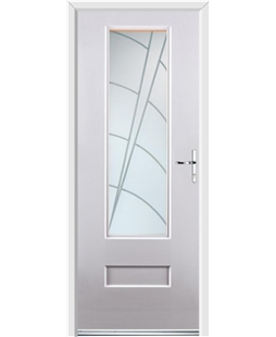 Ultimate Vogue Rockdoor in White with Ocean Glazing