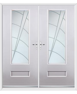 Vogue French Rockdoor in White with Ocean Glazing