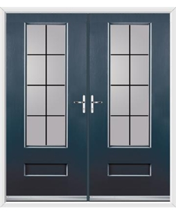 Vogue French Rockdoor in Anthracite Grey with Square Lead